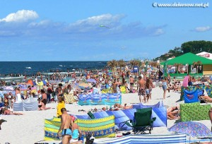 Dziwnów - widok na plażę