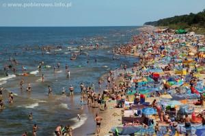 plaża w Pobierowie
